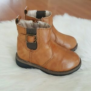 Carters toddler girls ankle tan boots size 5
